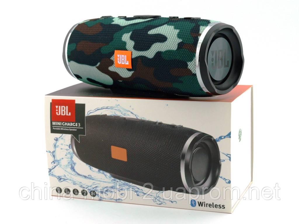 JBL mini Charge 3 16W копия, портативная колонка с Bluetooth FM MP3, Squad камуфляжная