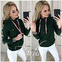 """Толстовка женская """"Fashion Killa"""" на флисе 42-44, зеленый"""