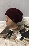 """Женская зимняя шапка """"Genie"""" на флисе бордовый"""