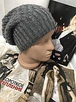 """Женская зимняя шапка """"Genie"""" на флисе графит"""