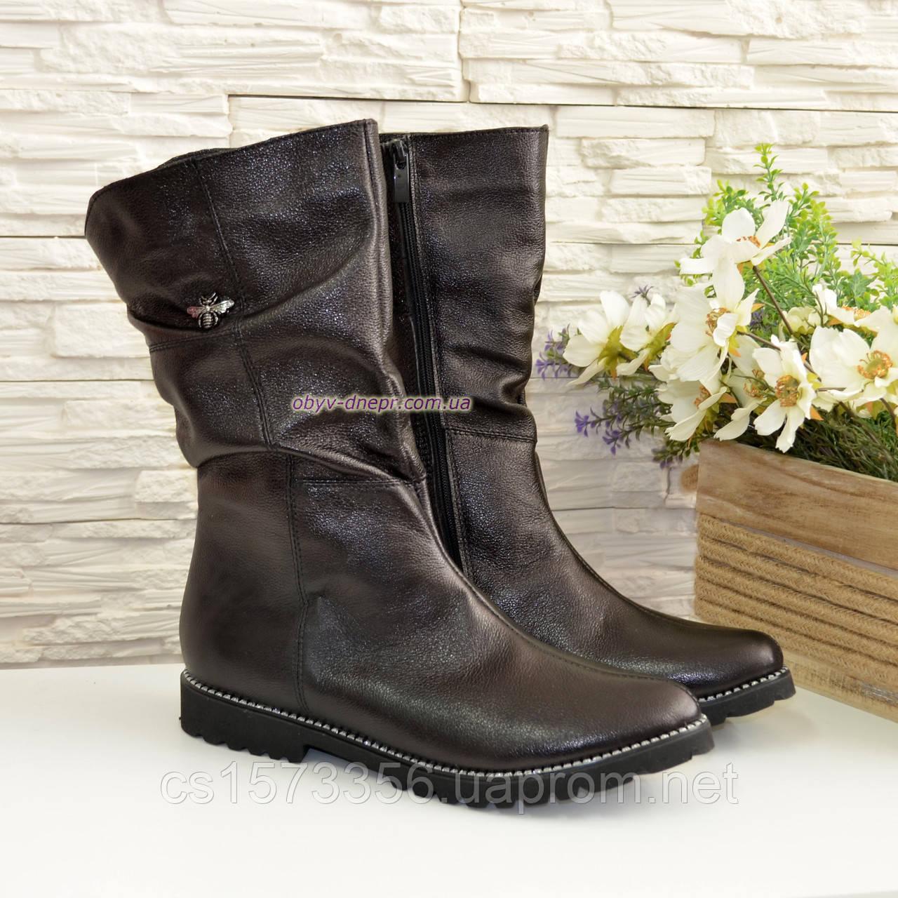 """Женские кожаные демисезонные ботинки на байке от производителя  ТМ """"Maestro"""""""