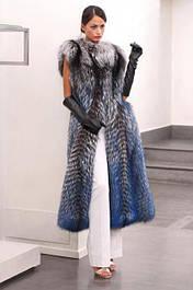 Стильные жилеты из меха чернобурки.Индивидуальный пошив от производителя.