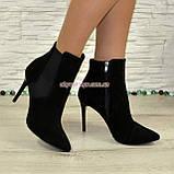 Ботинки замшевые женские демисезонные на шпильке, фото 4