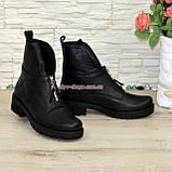 Стильные демисезонные полуботинки на маленьком каблуке, фото 3