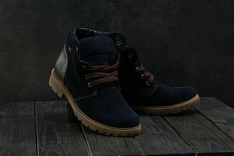Ботинки Braxton 397 zsi (зима, подростковые, замш, синий)