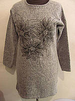 Туника женская из трикотажа ангорка укутает Вас своим теплом, практичный вариант, р.48-50, код 4405М
