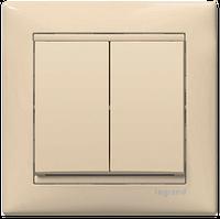 Выключатель 2-клавишный, слоновая кость - Legrand Valena 774305