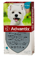 Bayer Advantix для собак вес 4-10 кг 1пипетка 1мл
