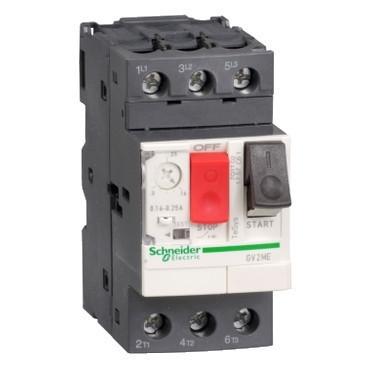 Автоматичний вимикач 0.40 - 0.63A захисту двигуна GV2ME04