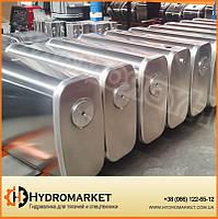 Бак гидравлический (гидробак) закабинный 160 л алюминиевый (65х31х90), на кран - манипулятор, фото 1