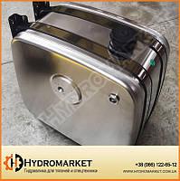 Бак гидравлический (гидробак) бокового крепления 160 л алюминиевый (62х45х67), фото 1
