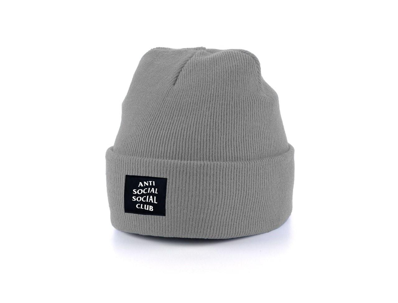 Мужская теплая шапка Anti Social Social Club универсальный размер