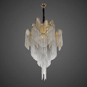 Люстра неоклассика Каскад  908-D0033-8  Silver