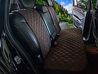 Чехлы на сиденья темно-коричневые. Задний комплект. Авточехлы