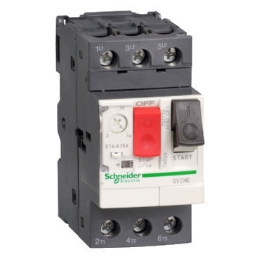 Автоматичний вимикач 13 - 18A захисту двигуна GV2ME20