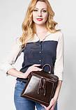 Жіночий шкіряний рюкзак міський. Модний маленький рюкзак жіночий сумка рюкзак трансформер (чорний), фото 6