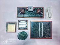 Настольный набор на 4 предмета из натурального дерева и зеленого мрамора Bestar 4277 WDN