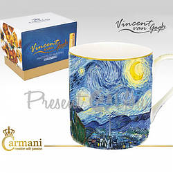 Кружка фарфоровая Ван Гог «Звездная ночь» Carmani, 350 мл (830-0109)