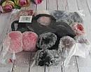 Резинки для волос с меховыми помпонами 12 шт/уп, фото 5