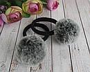 Резинки для волос с меховыми помпонами 12 шт/уп, фото 6