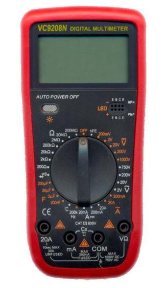 Цифровой тестер мультиметр VC-9208N