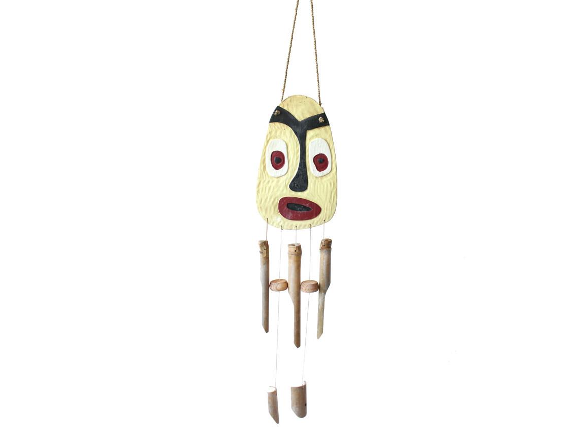 Колокольчик фен шуй музыка ветра «Маска», h-94 cм