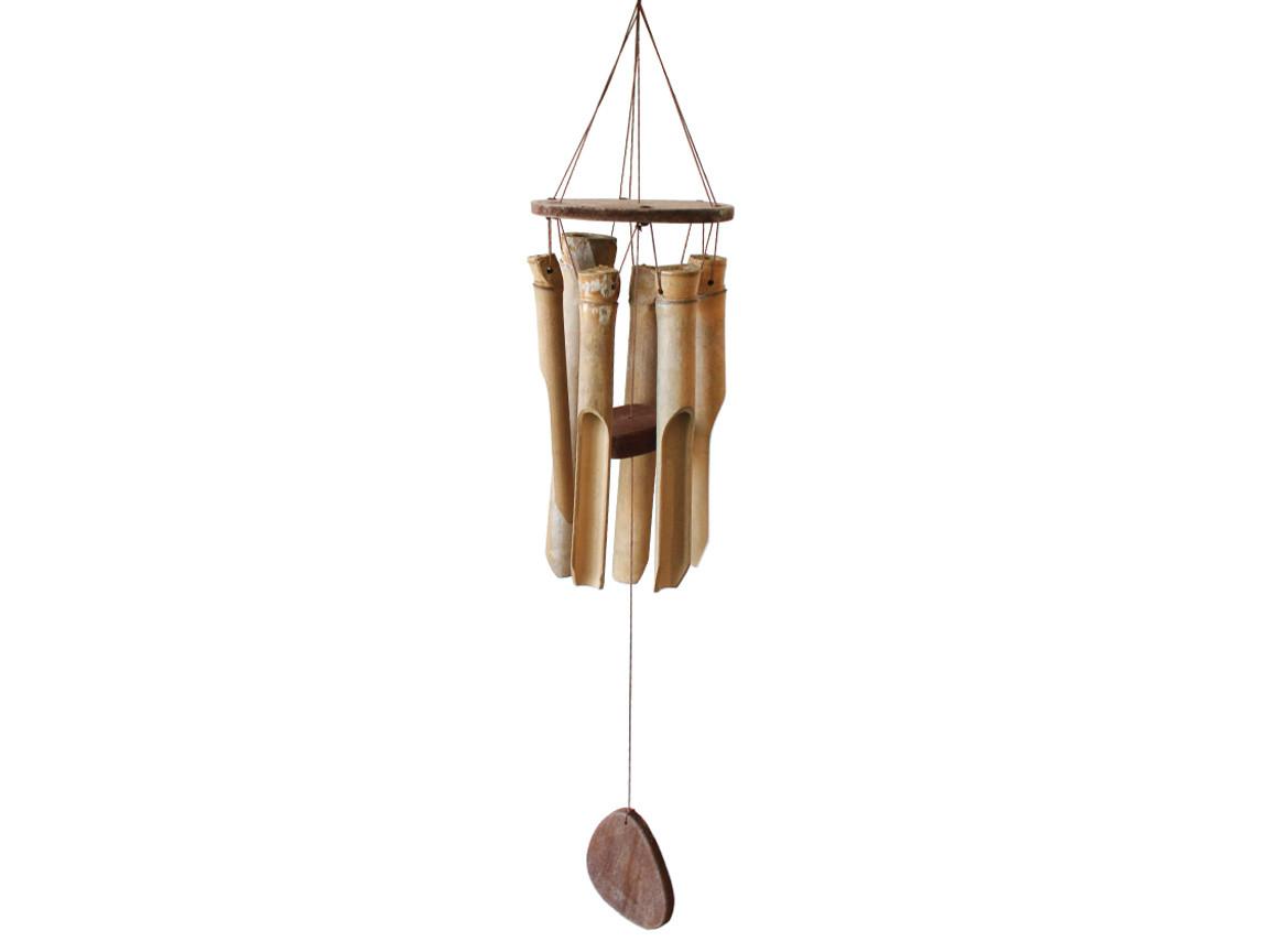 Колокольчик фен шуй музыка ветра «Бамбук», L-65 cм