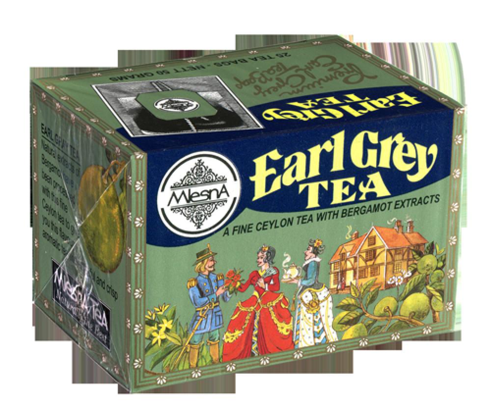Черный чай Эрл Грей (бергамот), EARL GREY BLACK TEA, Млесна (Mlesna) 50г (25*2)