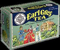 Черный чай Эрл Грей (бергамот), EARL GREY BLACK TEA, Млесна (Mlesna) 200г (100*2г)