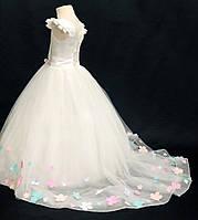 """Шикарне дитяча сукня зі шлейфом для дівчинки """"Елізабет"""", фото 1"""
