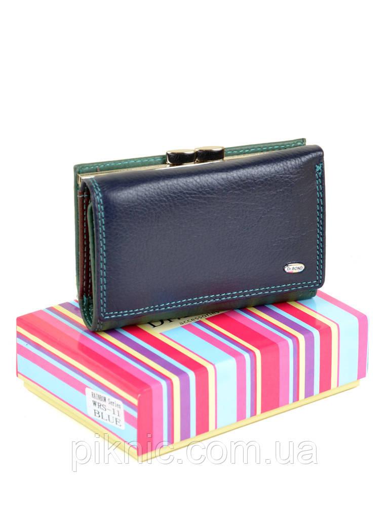 Компактный женский кожаный кошелек, портмоне Rainbow Dr Bond. Из натуральной кожи.