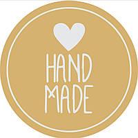 Наклейка Hand Made , круг 4см, лист 54 шт