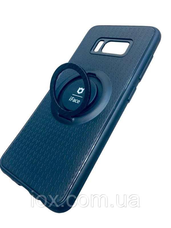 Чехол-накладка iFace силиконовая с кольцом-держателем и магнитом для Samsung Galaxy S8 G950