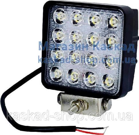 LED фара рабочего света 48W/60 (16x3W) 3520 Lm широкий луч, фото 2