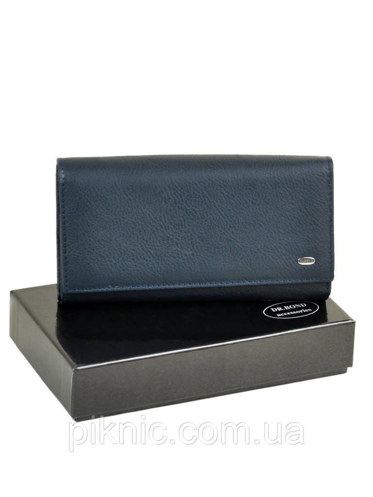 Женский кожаный кошелек, клатч, портмоне Dr Bond. Из натуральной кожи. Кнопка