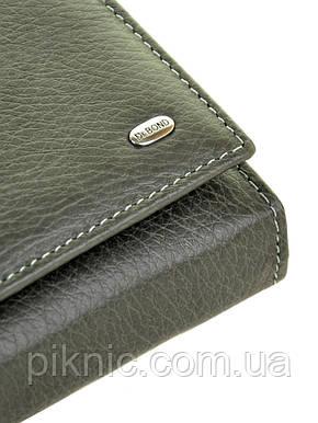 Женский кожаный кошелек, клатч, портмоне Dr Bond. Из натуральной кожи. Кнопка, фото 2