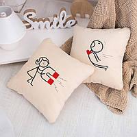Набор подушек для влюбленных «Магнит»  флок, фото 1