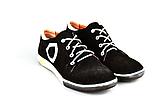 Кроссовки женские замша черно-белые шнуровка от производителя KARMEN, фото 3