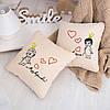 Набір подушок для закоханих «Король і Королева» флок