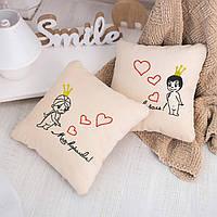 Набор подушек для влюбленных «Король и Королева»  флок