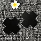 Наклейки на груди у вигляді хреста (стікіні) чорні, фото 4