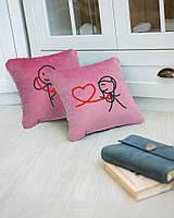 Набір подушок для закоханих «Слухай серце» флок, фото 1