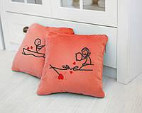 Набір подушок для закоханих «Рибалка» флок, фото 1