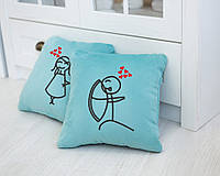 Набор подушек для влюбленных «Стрельба из лука»  флок, фото 1