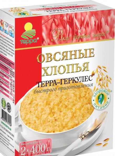 """Хлопья  овсянные 800г """"Терра"""""""