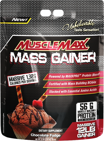 Гейнер MuscleMaxx Mass Gainer 5,44 kg chocolate fudge