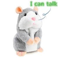 Говорящий хомяк! Плюшевая игрушка-повторюшка!