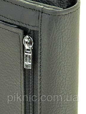 Женский кожаный кошелек на магните Dr Bond. Из натуральной кожи. Синий, фото 2