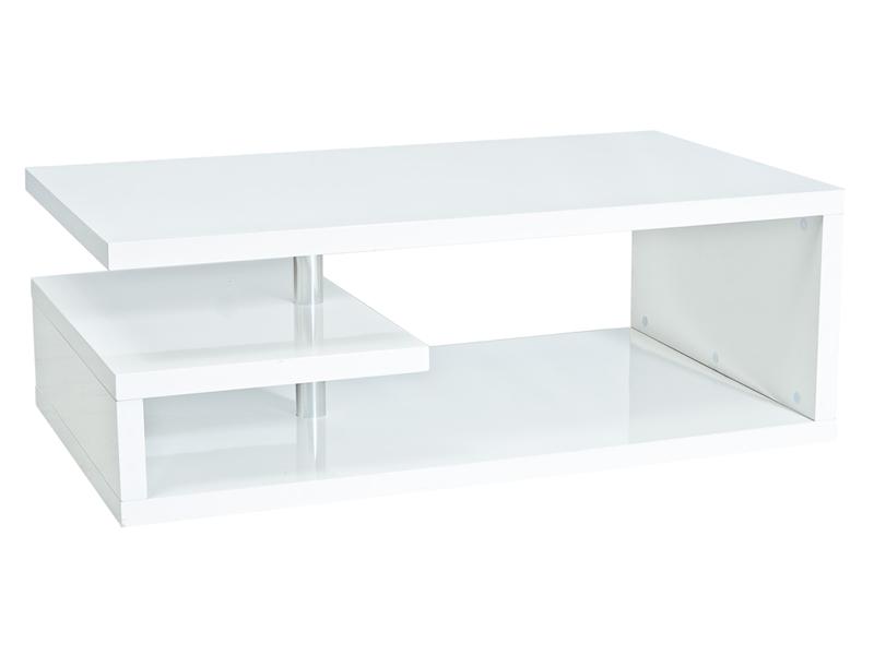 Журнальный столик Tierra 100×60 Signal белый лакированный