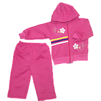 Детский спортивный костюм (теплый): кофта на молнии с капюшоном, штаны, начес, р.92, 98, Турция